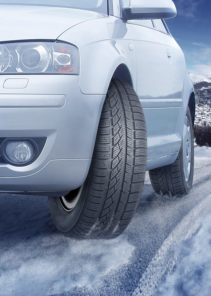 Continental Car Tyres - ContiWinterContact TS 810 Front Tyre On The Road