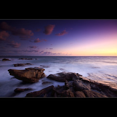 Dawn ([ Kane ]) Tags: ocean longexposure morning sky beach water rock clouds sunrise landscape dawn rocks australia qld queensland kane sunshinecoast gledhill 50d kanegledhill pointarkwright wwwhumanhabitscomau kanegledhillphotography