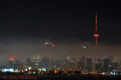 Toronto Night Lights (Dan Sutton) Tags: city toronto skyline night buildings lights nikon cntower d90 cityoftoronto 3secondexposurewithatripod