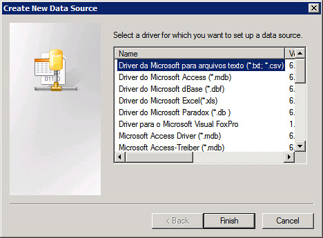 If Using Microsoft SQL Server 2005 Like Me Be Sure To Select The Native Client Driver Towards Bottom Of List And Not Da Para