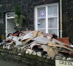 Flooded Guest House, Keswick, Cumbria, UK
