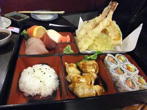 Sashimi and Tempura Bento Box