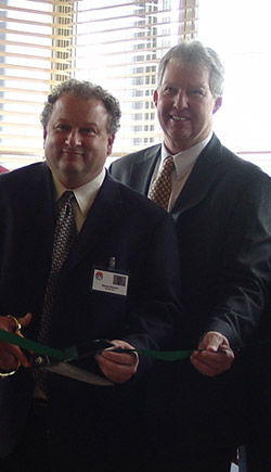 Steve Richard of SUN Home Health and Hospice and Tom Williams, Pennsylvania State Director, USDA Rural Development at the SUN Home Hospice Care Center ribbon cutting