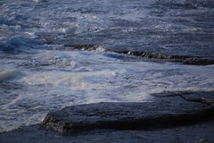 In late light (monika & manfred) Tags: sea water waves wildlife shoreline foam mm cliffhike orkneys rollingin orkneyislands scotland2009 holidays3