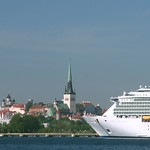Tallinn: Panoramic view of Old Town from sea