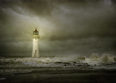 Isolation (jetbluestone) Tags: lighthouse storm texture waves wind hdr newbrighton merseyside perchrock
