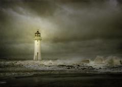 Isolation (jetbluestone) Tags: lighthouse storm texture waves wind hdr newbrighton merseyside perchrock