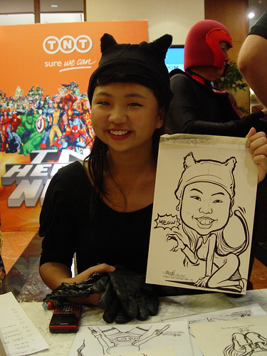 Caricature live sketching TNT Express Worldwide D&D 2009 - 3