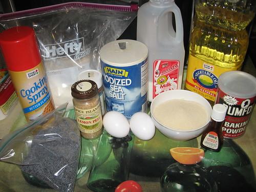 Lemon poppy seed muffin ingredients
