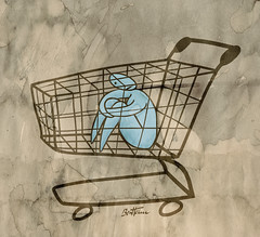 No More Purchasing Power (Ben Heine) Tags: mars food money shop retail youth shopping trapped trolley labor beverage tesco jeunesse carrefour walmart business prison hunger cycle jail civilization products cocacola needs cart grocery
