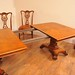 English William IV dining table in Walnut and Set Chippendale Chairs www.canonburyantiques.com