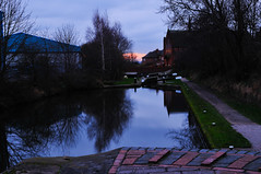 The Walsall Canal, Birchills, Walsall 13/12/2009 (Gary S. Crutchley) Tags: winter black west heritage industry church st evening canal nikon andrews cut lock path country locks tow navigation westmidlands walsall midlands d300 blackcountry birchills walsallweb