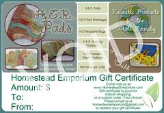 <B>*Gift Certificates</B>