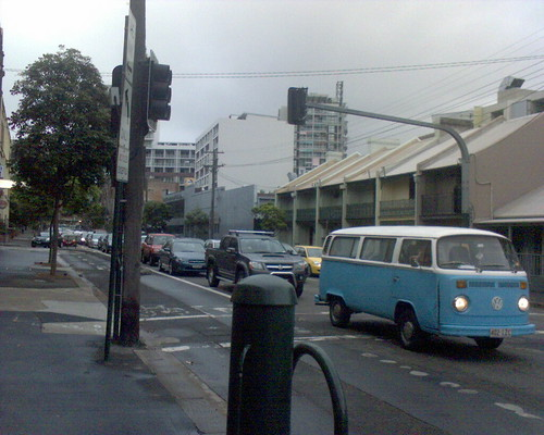 Backed up in Wattle St due to Bus strike