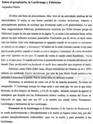 texto de Pidello sobre fabricio