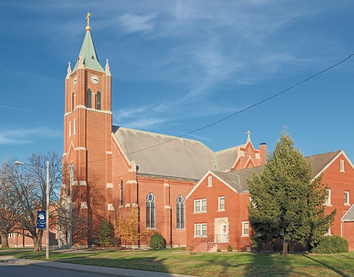 Saint Francis of Assisi Roman Catholic Church, in Aviston, Illinois, USA - exterior