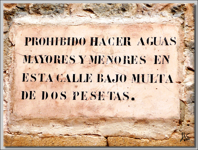 PROHIBIDO HACER AGUAS 2MR