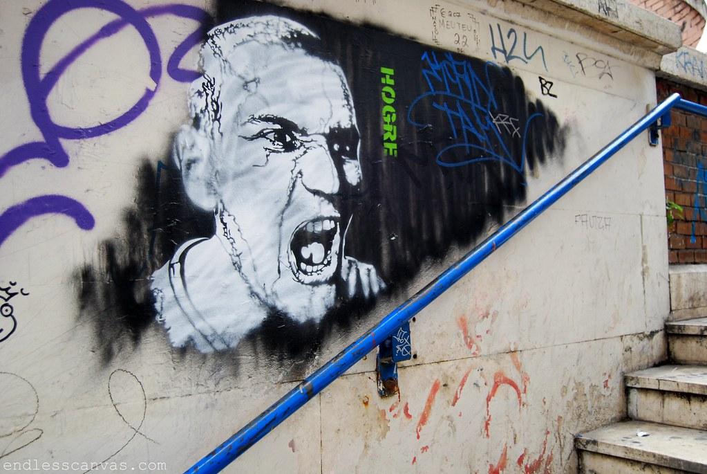 HOGRE Graffiti Stencil - Rome, Italy 2009.
