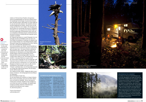 Vancouver Island for REIZEN Magazine, pages 9&10.