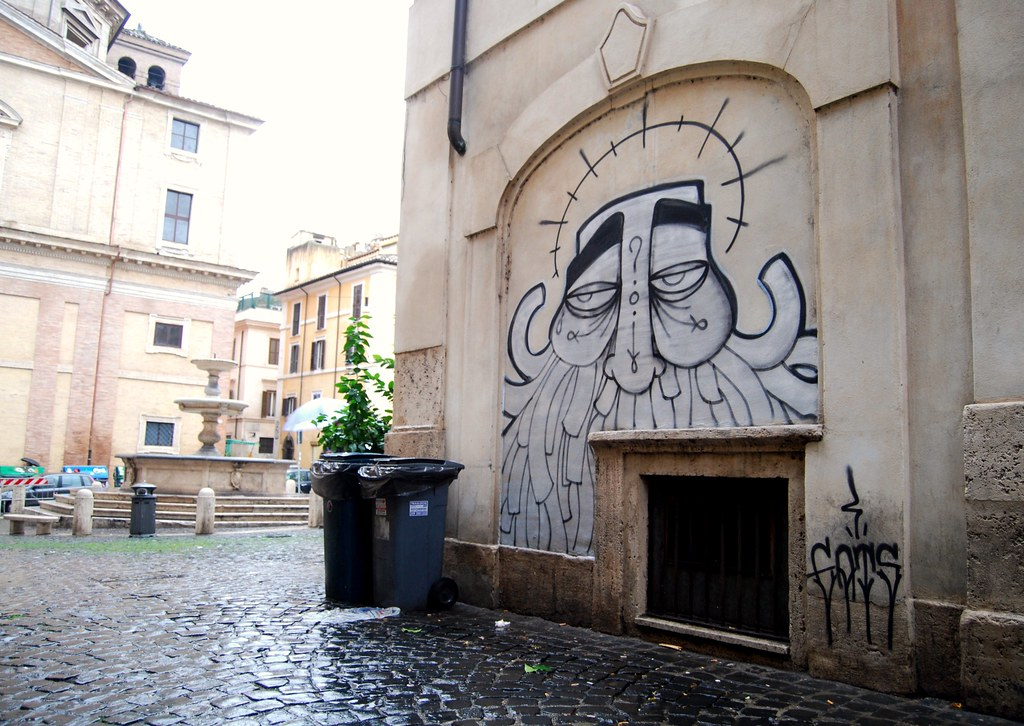 GATS Graffiti Street Art in Rome Italy 2009.
