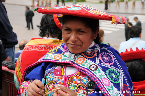 Handicrafts Vendor in Cusco, Peru