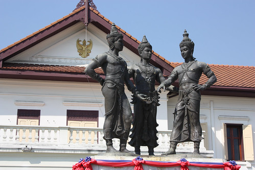 The Three Kings on front of the Chiang Mai National Museum