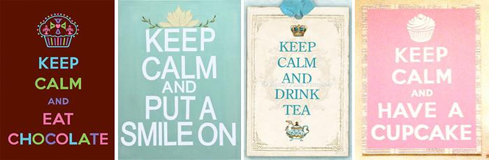 keep calm vintage