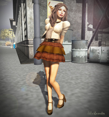 S H I N E - Anitta skirt_Brown