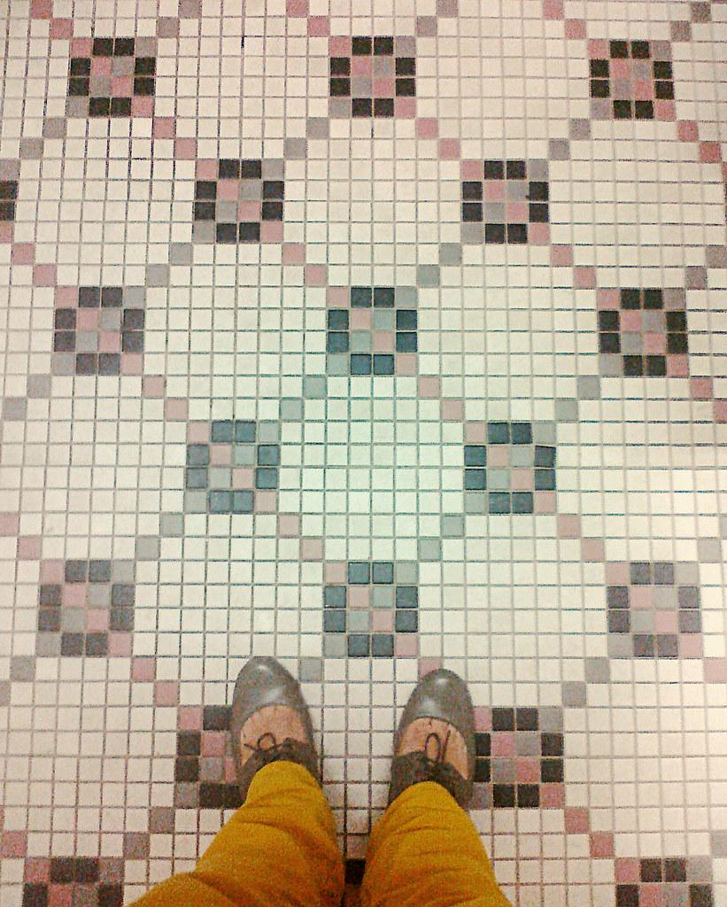 in the bathroom at church!