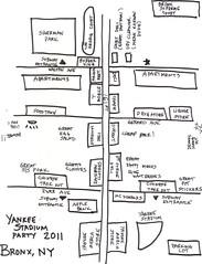Yankee Stadium Map