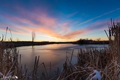 Frozen Sunrise (dekish1) Tags: 2v3a0232jpg canon7dmarkii cherrycreekstatepark copyrightdavidkish colorado canon1022mm landscape sunrise frozen lake pond