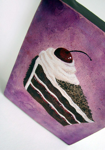 black forest cake painting