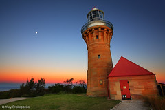Barrenjoey Lighthouse after Sunset, Sydney, Australia (-yury-) Tags: ocean sunset sky moon lighthouse canon landscape sydney australia nsw 5d palmbeach hdr barrenjoey barranjoey abigfave lighthousesunset