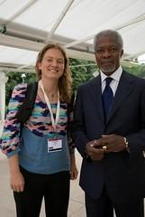 Franny Armstrong & Kofi Annan