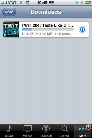Downloading TWiT on my iPhone