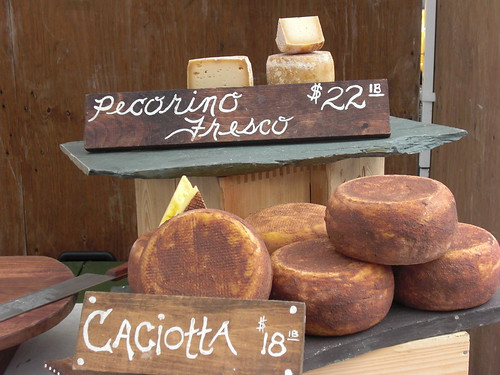 Pecorino Fresco and Caciotta