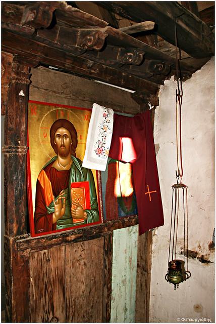 Τέμπλο, ξωκκλήσι Αγίας Παρασκεύς, Τρεις Ελιές