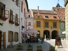 Looking towards the square, Sighisoara