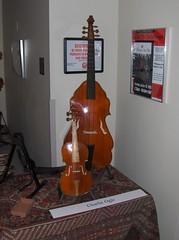 Festooned bass viola da gamba