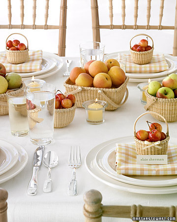 Perfect for summer and fall weddings where fruit are easily bought at a