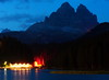 A calm summer night on the lake and mountains behind (Robyn Hooz) Tags: lake canon lago hotel 18 50 ef misurina trecime dreizinnen lavaredo mywinners 1000d