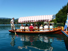 Bled lake (giuseppegiramondo) Tags: lake water lago boat reflex barca acqua riflessi bledlake pletna lagodibled