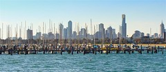 Melbourne City from St. Kilda Beach (Kamalpreet S. Sawhney) Tags: ocean blue sunset sea cliff white mist cold water colors beautiful fog clouds sunrise dark relax fun gold dawn golden sand bath rocks aqua warm surf waves sailing colours riverside bright god cloudy dusk sails aquamarine overcast sunny australia melbourne bluesky victoria lookout calm desperate cotton enjoy serenity boating cape serene lonely aussie twelveapostles bliss amen kilda gettogether shimmer depressing dayout endless stkildabeach mountainrange breakingwaves lookoutpoint sunbehindtheclouds thetwelveapostles denseclouds melbourneskyline providencephotos wwwprovidencephotosin