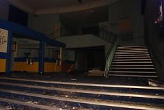 Foyer (Landie_Man) Tags: street old original cambridge 3 cinema abandoned halloween wet childhood night last oscar sad many films buckinghamshire memories screen 1999 forgotten 1984 movies dimples years sainsburys rotten aylesbury cinematic derelict damp closure deutsch 1937 vandalised revisit rennovated