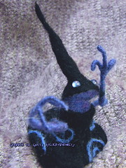 Grabber the Ghost /  (borometz) Tags: art wool monster toy spirit ghost craft felt plush fantasy needlefelting legend mythology myth handcraft grabber   needlefelted            atelierborometz