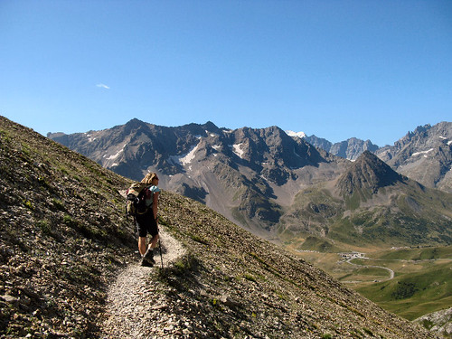 Hiking near the Col de Galibier, Dauphine / France