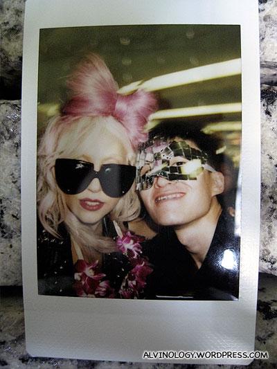 Melvin up close with Lady Gaga