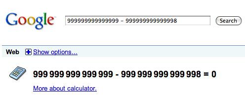 Google Calculator Wrong
