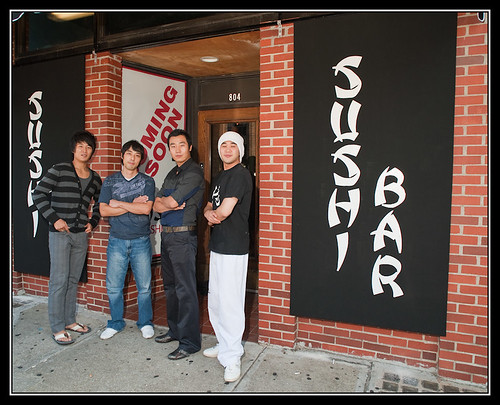 Sushi art - NEW sushi bar in Columbia at 8th & Broadway (by Silver Image)