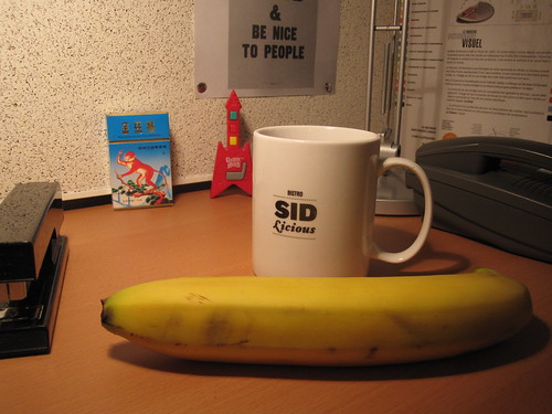 Tea and banana from the bistro - free